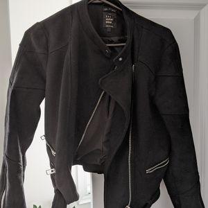 Zara Suede Biker Jacket